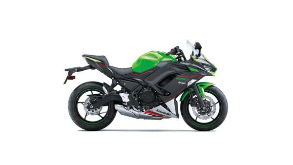 CocMotors – kawasaki Ninja 650 Lime Green : Ebony : Pearl Blizzard White side
